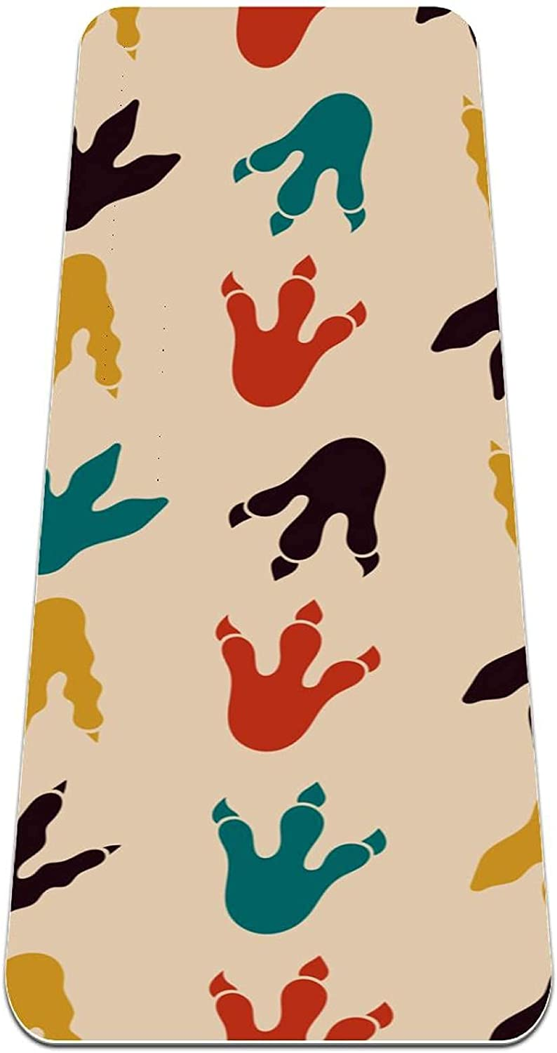 Yoga Mat SALENEW very popular Dinosaur Footprint Thick Exercise Non suitable Bombing new work Slip for