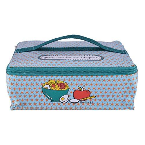 Sac à Lunch Isotherme JUSTE + 2 Boites Box de Conservation pour Repas Bureau Pique-Nique - Dlp Derrière La Porte