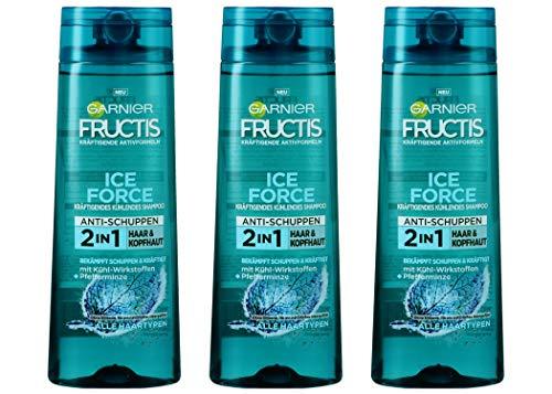 Garnier Fructis Shampoo ICE FORCE 2in1 Haar & Kopfhaut Anti-Schuppen 250ml (3er Pack)