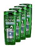 Elsève Phytoclear Shampooing Régulateur Anti-Pelliculaire pour Cheveux Normaux 250 ml - Lot de 4