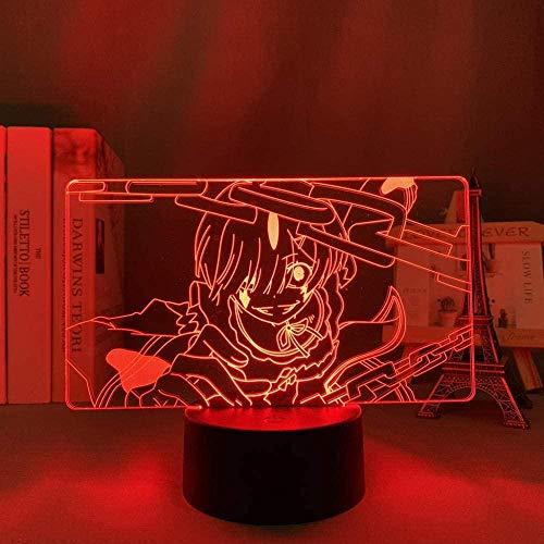 3D Led luce notturna Illusion lampada Usb Anime Boys Re Zero A partire dalla vita nel mondo Room Decor Manga Re Zero Ram Birthday Xmas-Con telecomando
