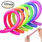 AMEITECH Colorful Sensory Fidget Stretch Toys Helps Reduce Fidgeting Due to Stress and Anxiety for ADD, ADHD, Autism (12 Pack)