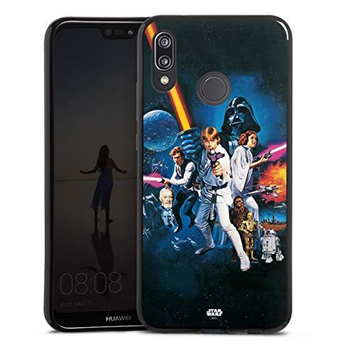 DeinDesign Silikon Hülle kompatibel mit Huawei P20 Lite Case schwarz Handyhülle Fanartikel Star Wars Episode IV