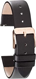 WRISTOLOGY Leather Watch Band Straps - Quick Release - Replacement for Mens or Womens Choose Color And Width 14mm, 16mm, 18mm, 20mm, 22mm
