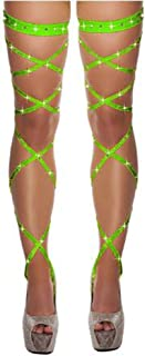 Sexy Women's Underwear Bandage Thigh-high Fishnet Stockings Crystal-Studded Thigh high Leg Wrapped in lace Diamond Tights