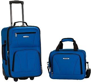 Rockland 2 PC LUGGAGE SET BLUE