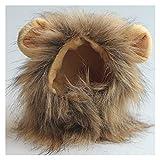 HJLINA Disfraces de Halloween para Perros Cosplay Gato Ropa Mascota pequeño Perro Gatos Traje león Made Peluca Gorra Gorra for Perros Gato Halloween Ropa de Navidad Vestido Ropa Mascota