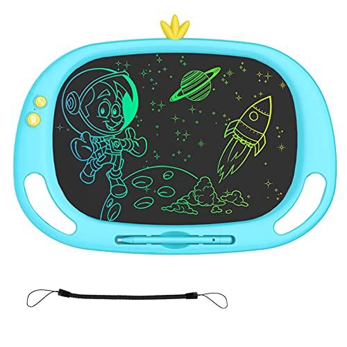 lavagna magnetica elettronica Tablet da scrittura LCD Luckits 13 pollici con schermo colorato Doodle Board con cordino e penna scritta a mano cancellabile riutilizzabile lavagna magnetica lavagna per scrivere con funzione blocco
