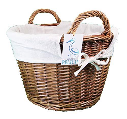 Pop-it-in-a-pelican 3 tamaños de cesta de mimbre. Forro extraíble. Estante decorativo solución de almacenamiento. Organiza tu hogar