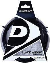 DUNLOP Black Widow 17 Gauge Poly Ridged Tennis Racquet String in Multi-Packs - Best Spin Durability (2-4-6-8-Packs)