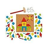 Goki - Jeu de construction bricolage Marteau et set de clous 118 pièces Enfant 5 ans +
