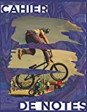 CAHIER DE NOTES: BMX freestyle bleu avec fond graffity / tag | Cahier de note pour rider de BMX pro, freestyle, race ou dirt (French Edition)