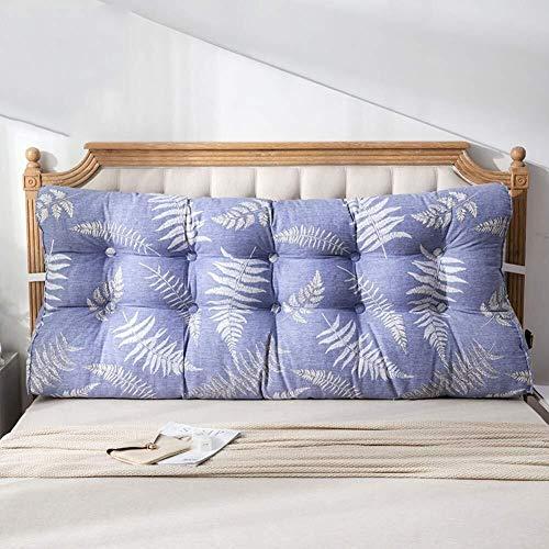 J-Kissen Dreieckigen Keilrückenpolster, Kopf weiches Kissen Große Rückenkissen Pflanze Druck Tatami Bett zurück Lendenkissen Pad (Color : M, Size : 55x60x20cm(22x24x8inch))