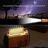 NOAA Notfall Radio, KurbelRadio Solarradio Wetterradio für Wandern und Draussen, mit AM/FM/SW, 2000mAh Wiederaufladbare Batterie, SOS Alarm, USB-Ladeanschluss, LED Taschenlampe, Lesen Lampe, Kompass - 4