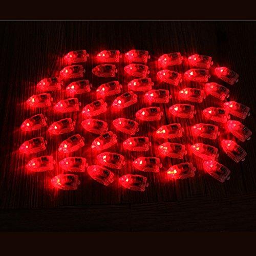 Bluelover 50 Unids / Lote Lámparas Led Globo Luces Para Globo De Papel Linterna Multicolor Decoración De La Fiesta De Navidad - Rojo