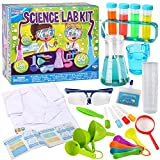 Klever Kits Science Lab Kit for Kids 60 Science Experiment Kit with Lab Coat Scientist Costume Dress Up and Role Play Toys Gift for Kids Christmas Birthday Party
