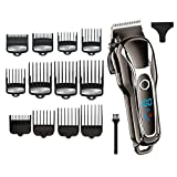 cortadora cabello set Barber Hair Clipper Professional Men Hair Trimmer Lcd Electric Hair Cutting Machine Salon Tool Haircut Cord & cordless