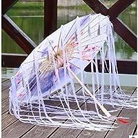 シルク生地中国のタッセル傘油紙傘