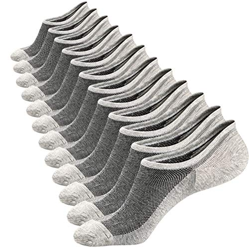Ueither Calcetines Cortos Hombre Invisibles Respirable