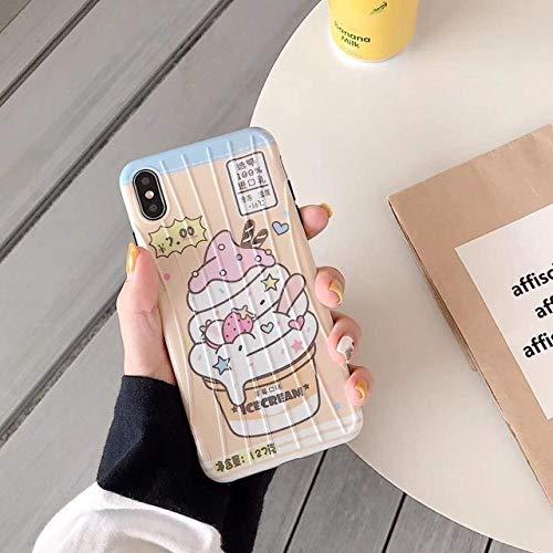 JINYIWEN telefoon case zomer matcha aardbei ijs voor iphone 7 8 plus 6 s mobiele telefoon case xs max xr siliconen soft shell-voor 6 plus 6 s plus-b