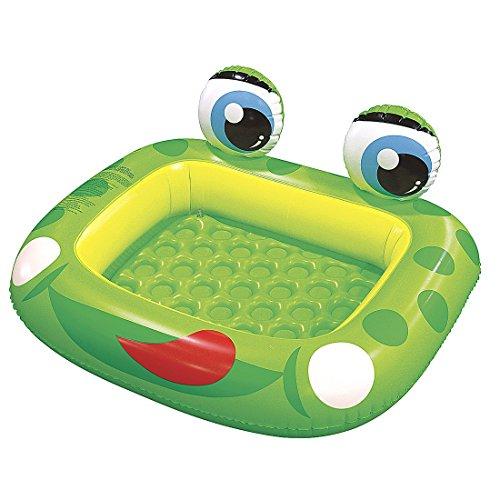 Jilong Frog Pool Planschbecken 128x110x23 cm Kinderpool Schwimmbecken mit aufblasbarem Boden