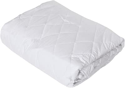 """India Furnish Quilted Waterproof Mattress Protector with Elastic Skirting- Queen Size, White (72""""x60"""")"""