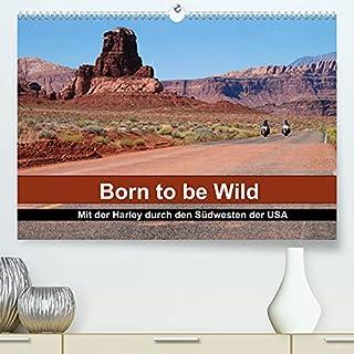 Born to be Wild - Mit der Harley durch den Suedwesten der USA (Premium, hochwertiger DIN A2 Wandkalender 2022, Kunstdruck ...
