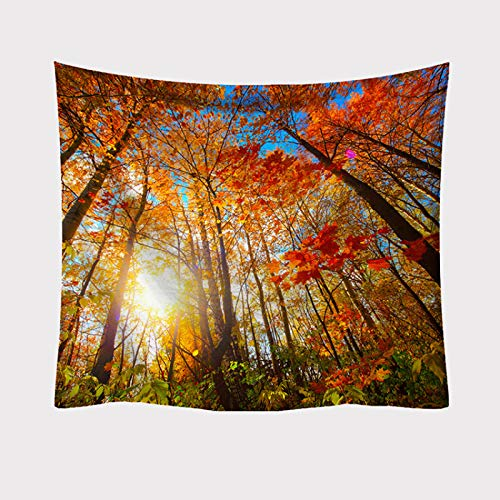 NHhuai Landscape Tapestry Wall Tapestry Tree Tapestries Home Decoration for Room Beach towel branch printing blanket