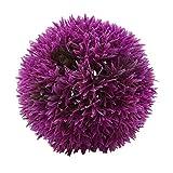 Kshcf Artificial Topiary Ball Backyard Indoor Hanging Decoration Garden Plant Ball,12cm Purple,10cm