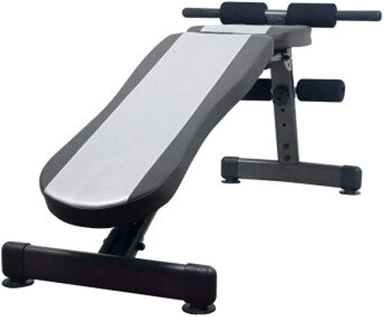 調整可能なベンチ 耐久性のあるホームフィットネスチェア多機能フィットネスダンベルトレーニングビッグフラットスツール商業ジムスポーツ機器ベンチベアリング (色 : グレー, サイズ : 114x16x37cm)