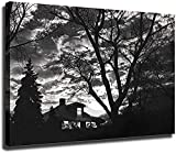 Scott Mutter Poster Subway House on Canvas Oil Painting Posters and Prints Decorations Wall Art Picture Living Room Wall Ready (24x32 inch Framed)-Framed_24x32 inch