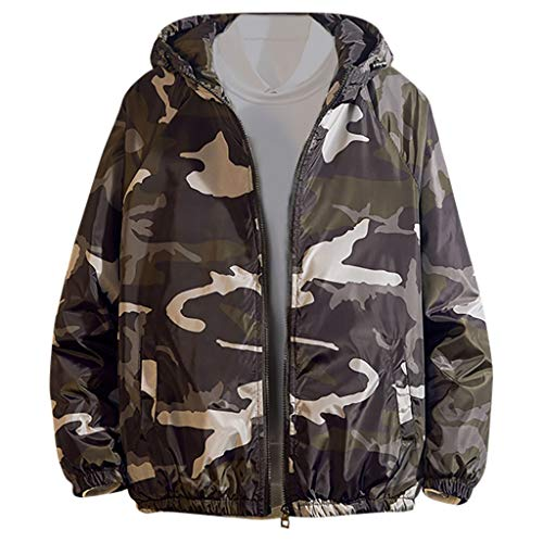 Check Out This Muranba Mens Winter Coats Autumn Casual Fashion Camouflage Printed Zipper Hoodie Wear...
