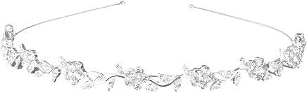 Generic Alloy & Rhinestone Crystal Flower And Leaves Headband Wedding Tiara For Women -15011253Mg