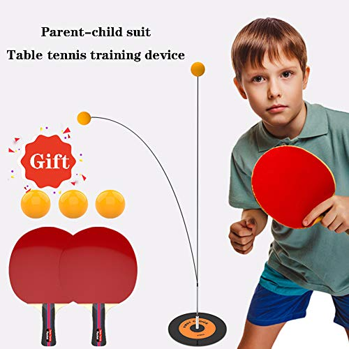 Find Bargain XUE Portable Table Tennis Ball Training Machine Home Exercise Ping Pong Self-Training T...