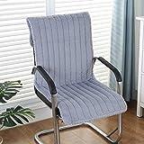 KKLTDI Hochlehner Auflage Sitzkissen Rückenkissen, Plüsch Drinnen Draußen Garten Sessel Sitzkissen Mit Krawatten Abnehmbarem Sitzkissen Rückenkissen-grau 135x45cm(53x18inch)
