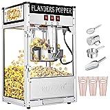 ROVSUN Popcorn Machine w/ 8 Ounce Kettle, 850W Countertop Popcorn Maker w/Single Door, Stainless...