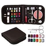 Auony Kit de costura de viaje, 40 piezas de suministros de costura premium incluyen 14 bobinas de hilo, agujas de costura, tijeras, dedal, hilo, cinta métrica para el hogar, viajes y emergencias