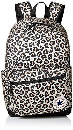 Converse Unisex-Erwachsene Go 2 Backpack Rucksack, Leopard Schwarz, Einheitsgröße