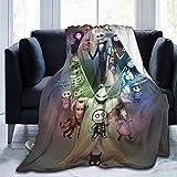 Nightmare Before Christmas Ultra Soft Throw Blanket Flannel Fleece All Season Light Weight Living Room/Bedroom Warm Blanket ,Black ,80'' x60