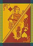 Garnier-Thiebaut, Carte Reine, Festival (Queen Card) French Jacquard Kitchen/Tea Towel