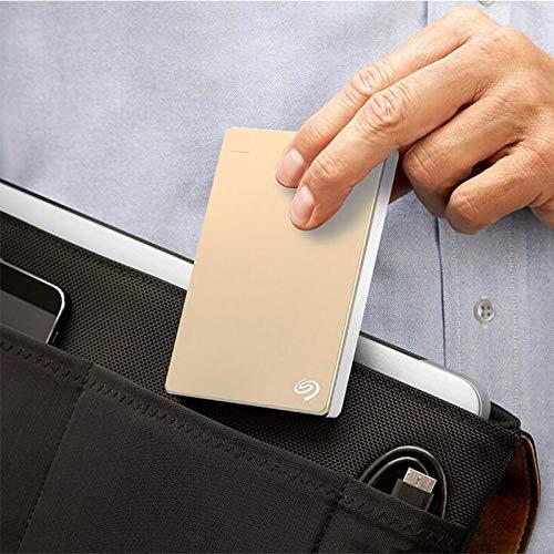 Lsmaa Disco Duro Externo, Almacenamiento Externo portátil 1TB 2TB Backup Plus Slim USB 3.0 HDD 2.5 Tamaño Ultra-Delgado USB 3.0 Cable, Adecuado para computadora portátil MacBook de Escritorio