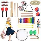 Herefun Juguetes de Instrumentos Musicales para Niños 22 en 1 Percusión Set Música Juguete Instrumento Educativo Bebés Regalos
