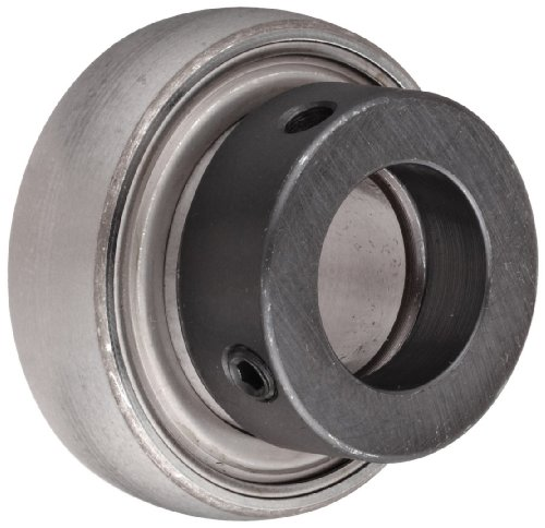 """SKF YET 206-103 W Ball Bearing Insert, Eccentric Collar, Contact Seals, Non-Relubricatable, Steel, 1-3/16"""" Bore, 62 mm OD , 18 mm Outer Ring Width"""