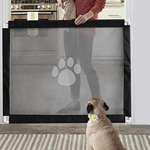Pssopp Hunde Türschutzgitter Hundegitter Haustier Sicherheitsgitter Treppenschutzgitter Hundebarrieren Hundelaufstall Hund Fahrzeug Rücksitz Mesh Schienennetz für die Sicherheit von Haustieren