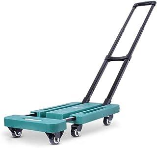 STC / Inicio turcks Trolley Driving Van Fold Portable Trolley Car Home Flat (Color : Verde)
