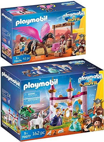 Playmobil® The Movie 2er Set 70074 70077 Marla, Del und Pferd mit Flügeln + Marla im Märchenschloss