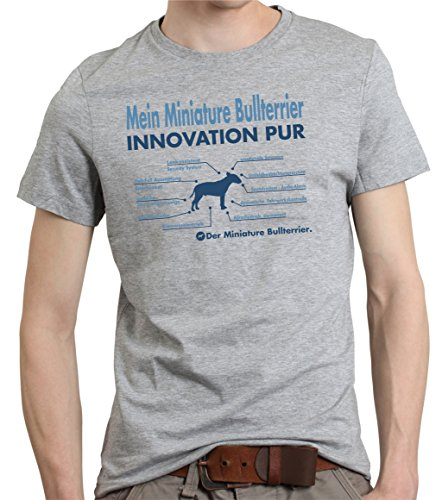 Siviwonder Innovation Miniature Bullterrier Bull Terrier britische Hunderasse Mini Hund - Unisex T-Shirt Shirt Sports Grey 3XL