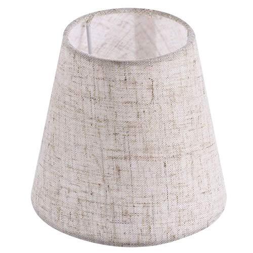 Pantalla circular de 5.5 pulgadas de doble propósito con aspecto de terciopelo aplastado para lámpara de tambor perfecto para decoración residencial o comercial (gris claro)