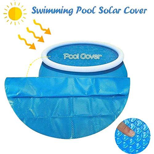 HWELZ Solarplane Solarplane Pool Rund für Poolerwärmung Dick und Stabil Solarfolie Cover Runde Pools Poolplane Solarabdeckplane Poolheizplane in blau (12FT(360 * 360))