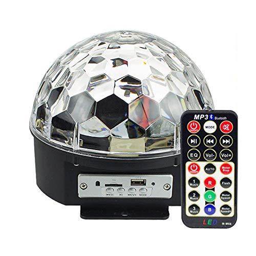 IVIDZ Rotierende Strobe Bluetooth MP3 Bühnenbeleuchtung, Disco-Musik LED RGB Kristall magische Kugel Wireless-Funktionen und eine Fernbedienung( Ktv, Weihnachtsfeiern,Feiern,Clubs,Bars,Diskos,Dj)